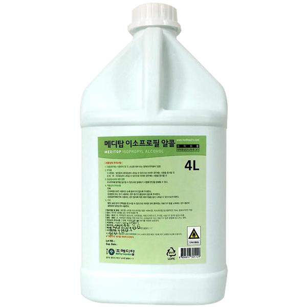메디탑 이소프로필 알콜70% 4L, 1개