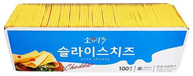 소와나무 슬라이스치즈, 18g, 100매입