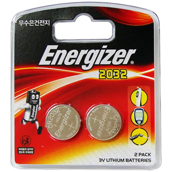 에너자이저 리튬 코인 건전지 CR2032, 2개입, 1개