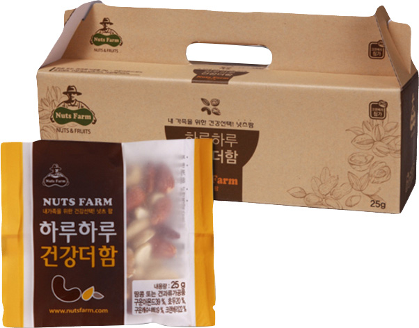 넛츠팜 하루하루 건강더함 견과류, 25 g, 30봉