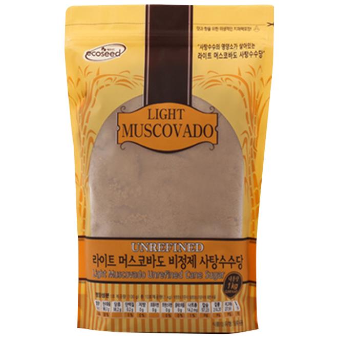 에코시드 라이트 머스코바도 비정제 사탕수수당, 1kg, 1개