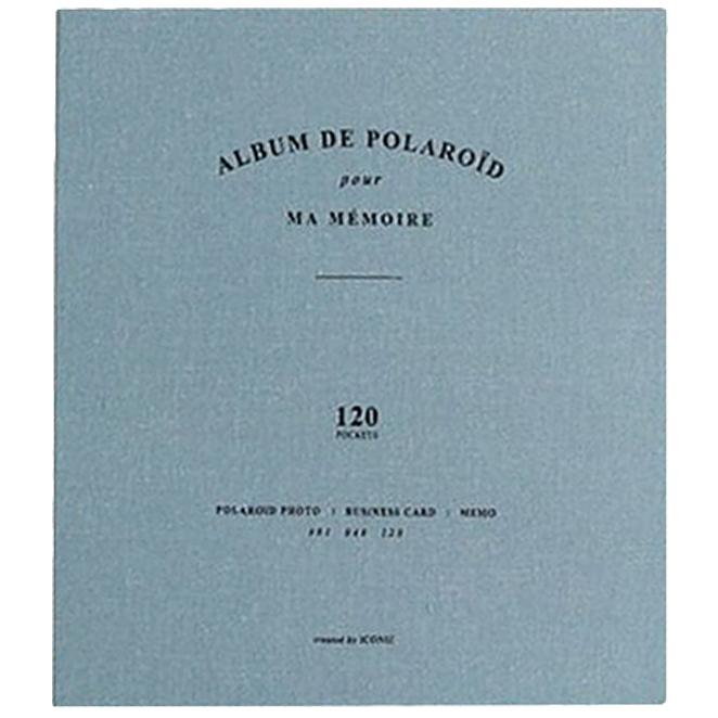 아이코닉 폴라로이드&네임카드 앨범, 인디블루, 120칸