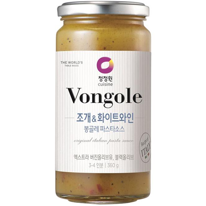 청정원 조개 앤 화이트와인 봉골레 파스타 소스, 360g, 1개