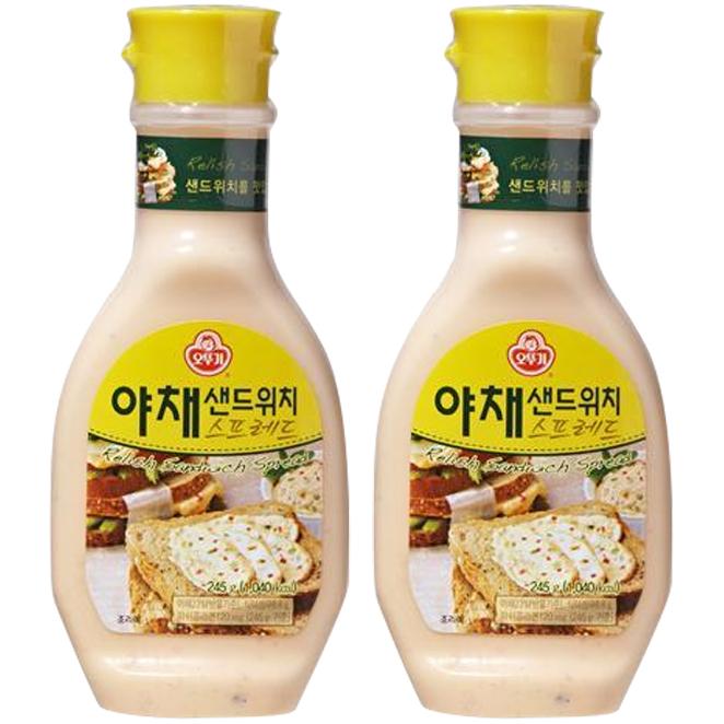 오뚜기 야채 샌드위치 스프레드, 245g, 2개