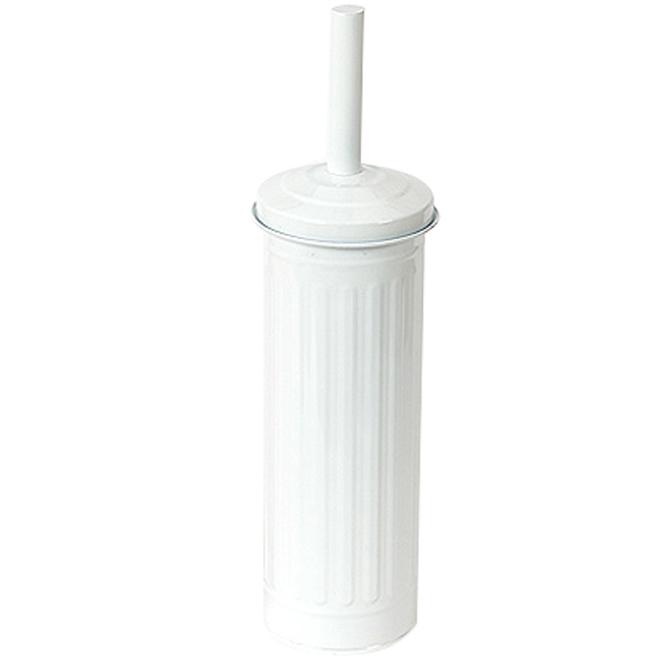 인테리어 원형 화장실 청소솔, 화이트, 1개