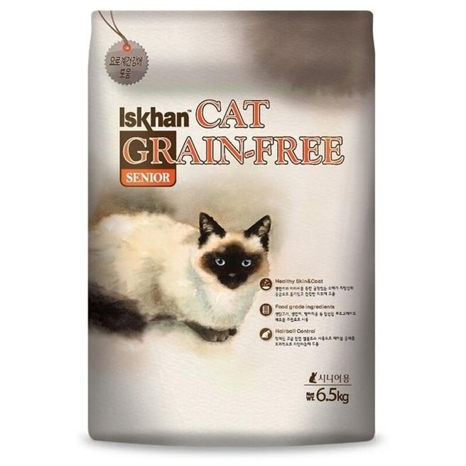 이즈칸캣 시니어 그레인프리 고양이 사료, 6.5kg, 1개