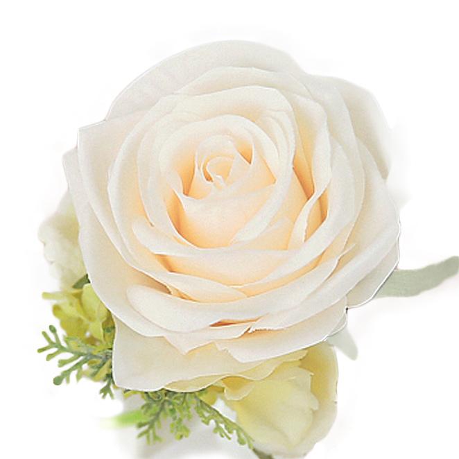더플라워마켓 브라이덜샤워 꽃팔찌, 로즈 (크림), 1개