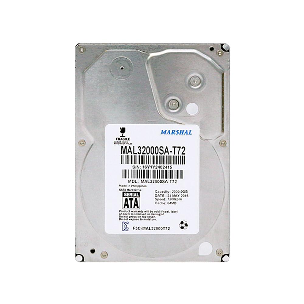 레토 마샬하드디스크 데스크탑용 HDD, 단일상품, 2TB