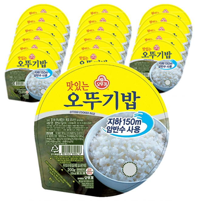 오뚜기 맛있는 오뚜기밥, 200g, 18개