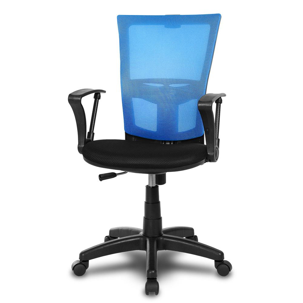 체어클럽 M1 기본형 블랙바디 메쉬 의자, 블루