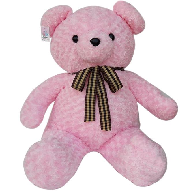 아트코리아 러브 리본 빅 곰인형, 100cm, 핑크