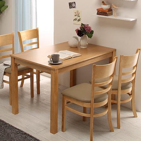 동서가구 케빈 4인용 식탁+ 의자 2개 세트 DF629508, 네추럴