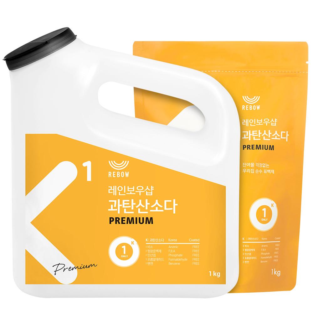 레인보우샵 왕톡톡이 과탄산소다 산소계표백제 리필세트, 1개