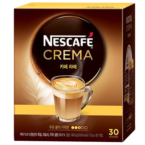 네스카페 크레마 카페라떼 믹스, 12g, 30개입