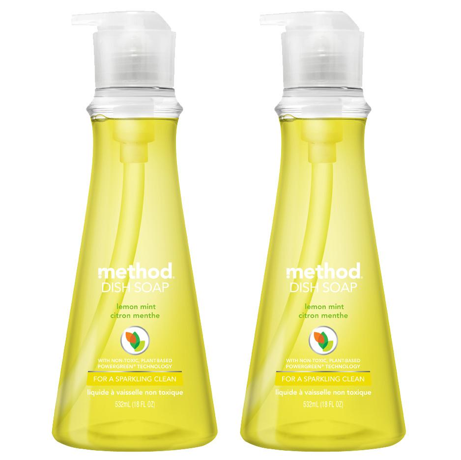 메소드 왕뽀득 주방세제 레몬민트향, 532ml, 2개입