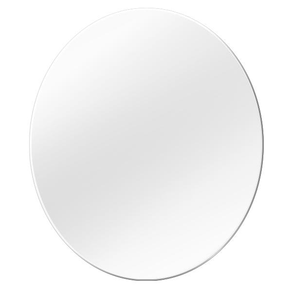 e작은상자이야기 못 없이 붙이는 안전한 아크릴 타원형 거울, 단일색상