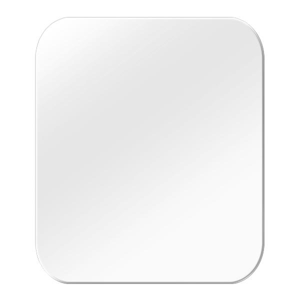 쿠 라운드 사각거울 아크릴 미러 35 x 40cm x 3mm, 단일 색상