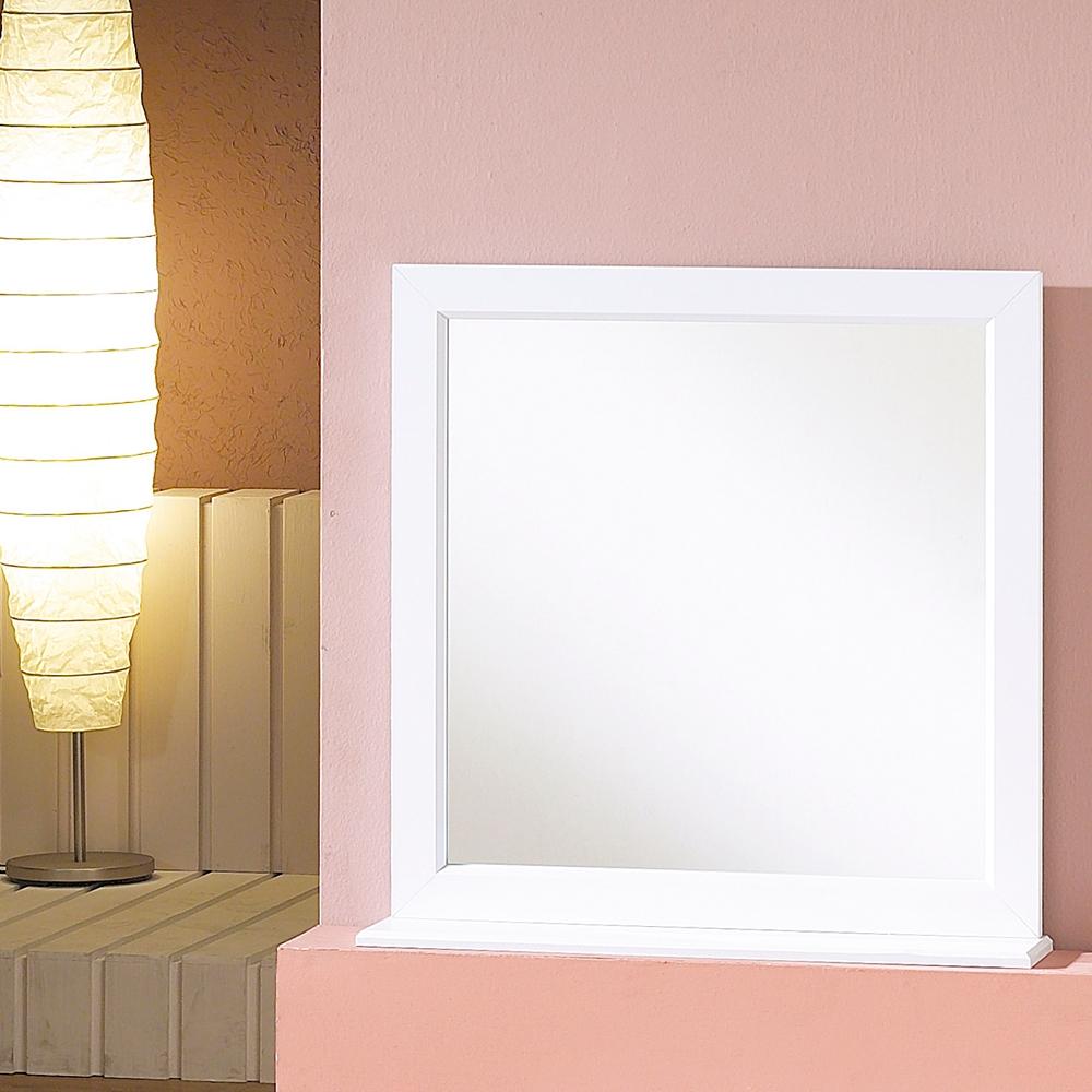 우드웰 스탠드형 사각거울 600 x 600, 화이트