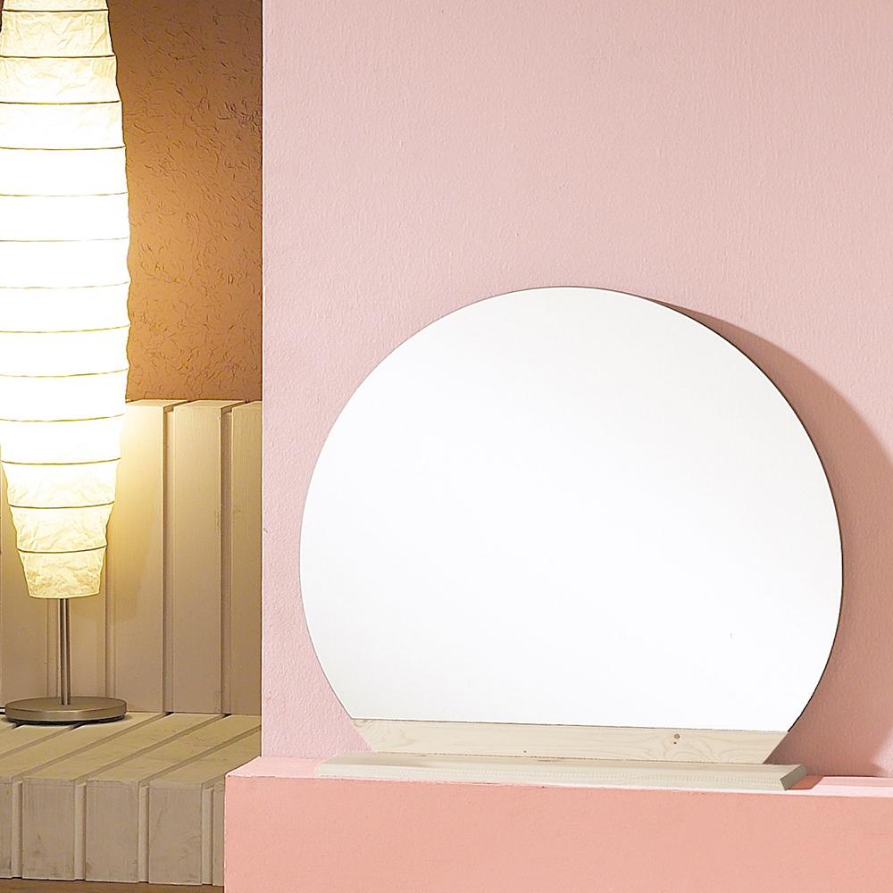 우드웰 스탠드형 원형거울 600 x 600, 워시