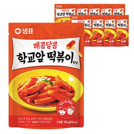 샘표 매콤달콤 학교앞 떡볶이 양념, 125g, 10개입