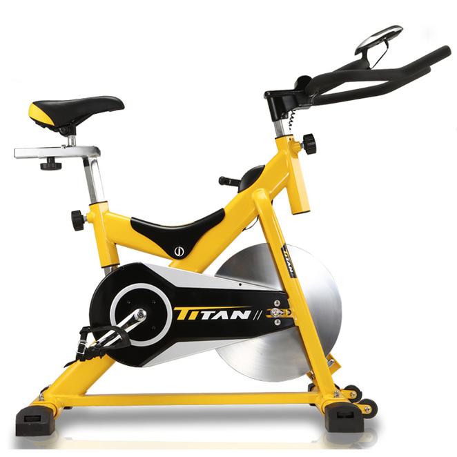 타이탄 옐로우 스핀 헬스자전거, 옐로우스핀+최고급쿠션안장, 자가설치