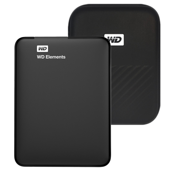 WD Elements Portable 휴대용 외장하드 + 파우치, 2TB, 블랙