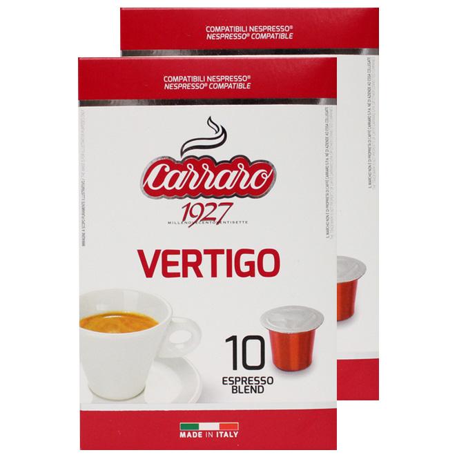 카페까라로 네스프레소 호환캡슐 베르티고, 5.2g, 20개입