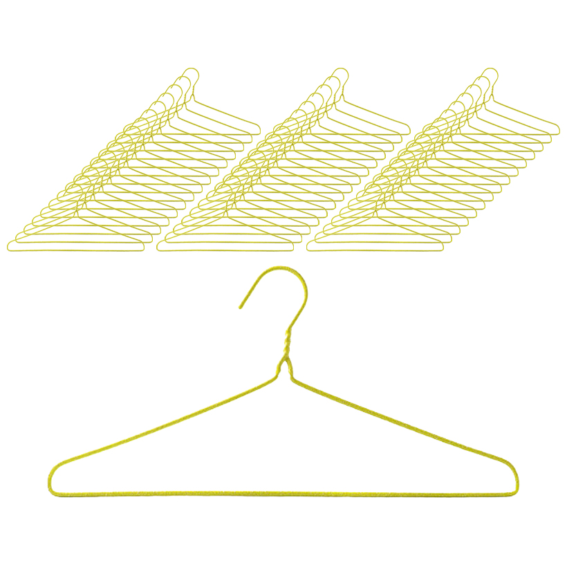 세탁소 옷걸이, 노랑, 50개