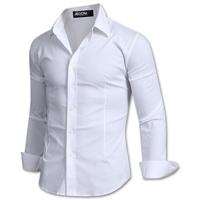 제이붐 남성용 솔리드 면스판 셔츠 ST01