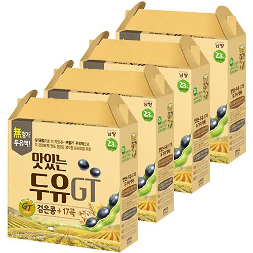 남양 맛있는두유 GT 검은콩 + 17곡, 190ml, 64개
