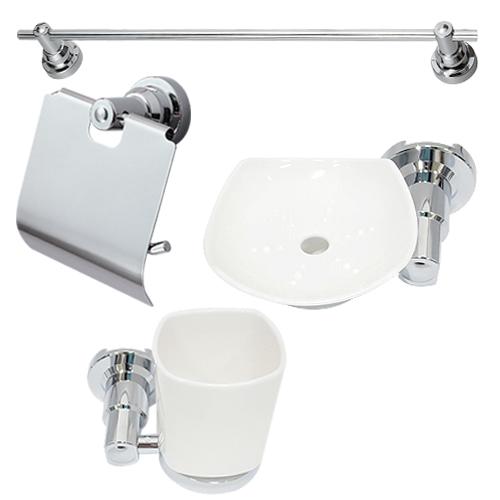 블루워터 SW-650 욕실 악세사리 4종 세트, 1세트