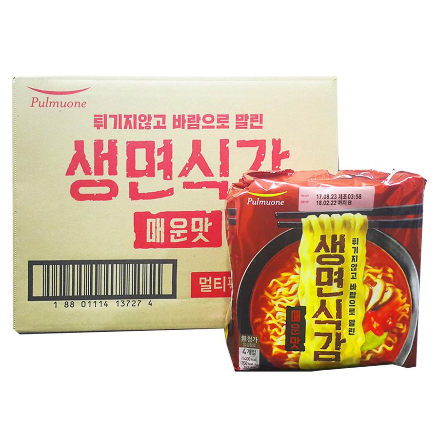 풀무원 생면식감 생라면 매운맛 95.9g, 32개입