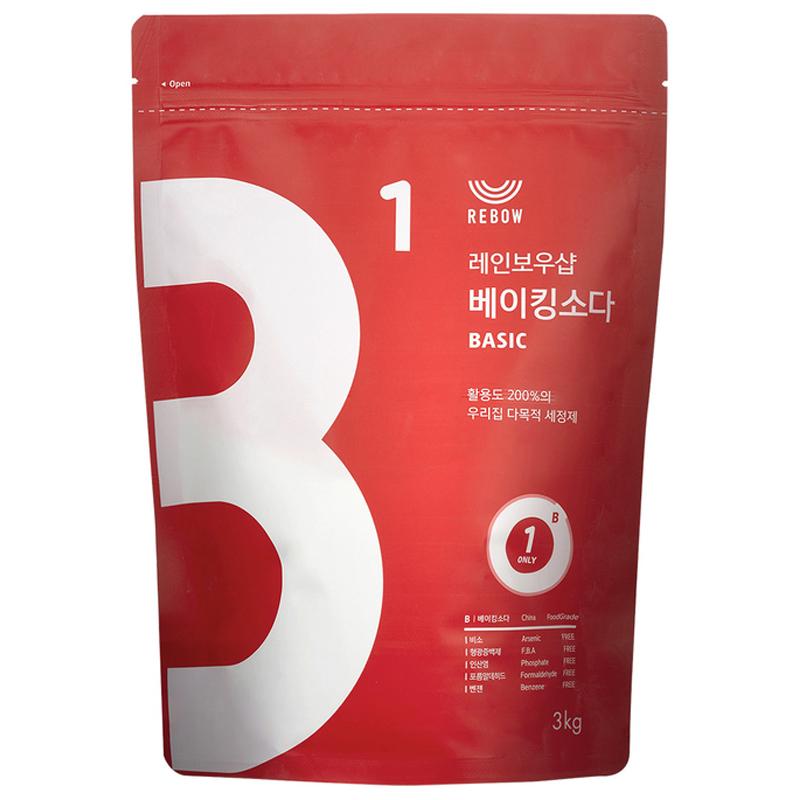 레인보우샵 베이킹소다 베이직, 3kg, 1개