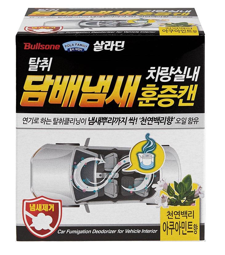 불스원 탈취항균 훈증캔 실내 담배냄새 제거용 아쿠아민트, 3.4g, 1개