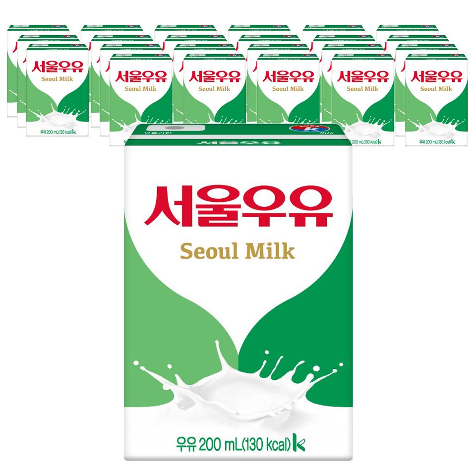 서울우유 멸균 흰우유, 200ml, 24팩
