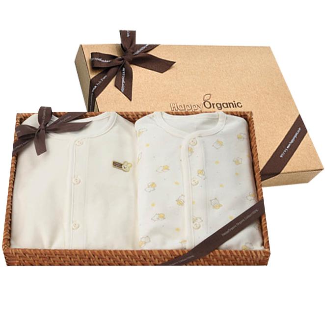 해피오가닉 오가닉 베이비램 + 토끼 내의 2종 선물세트