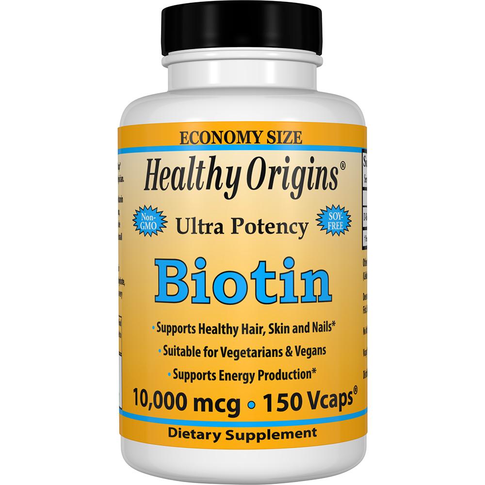 Healthy Origins 비오틴 10000mcg 브이캡, 150개입, 1개