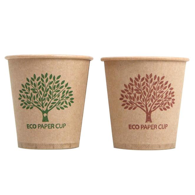 친환경종이컵 에코트리 종이컵 브라운+그린, 400개입, 1개