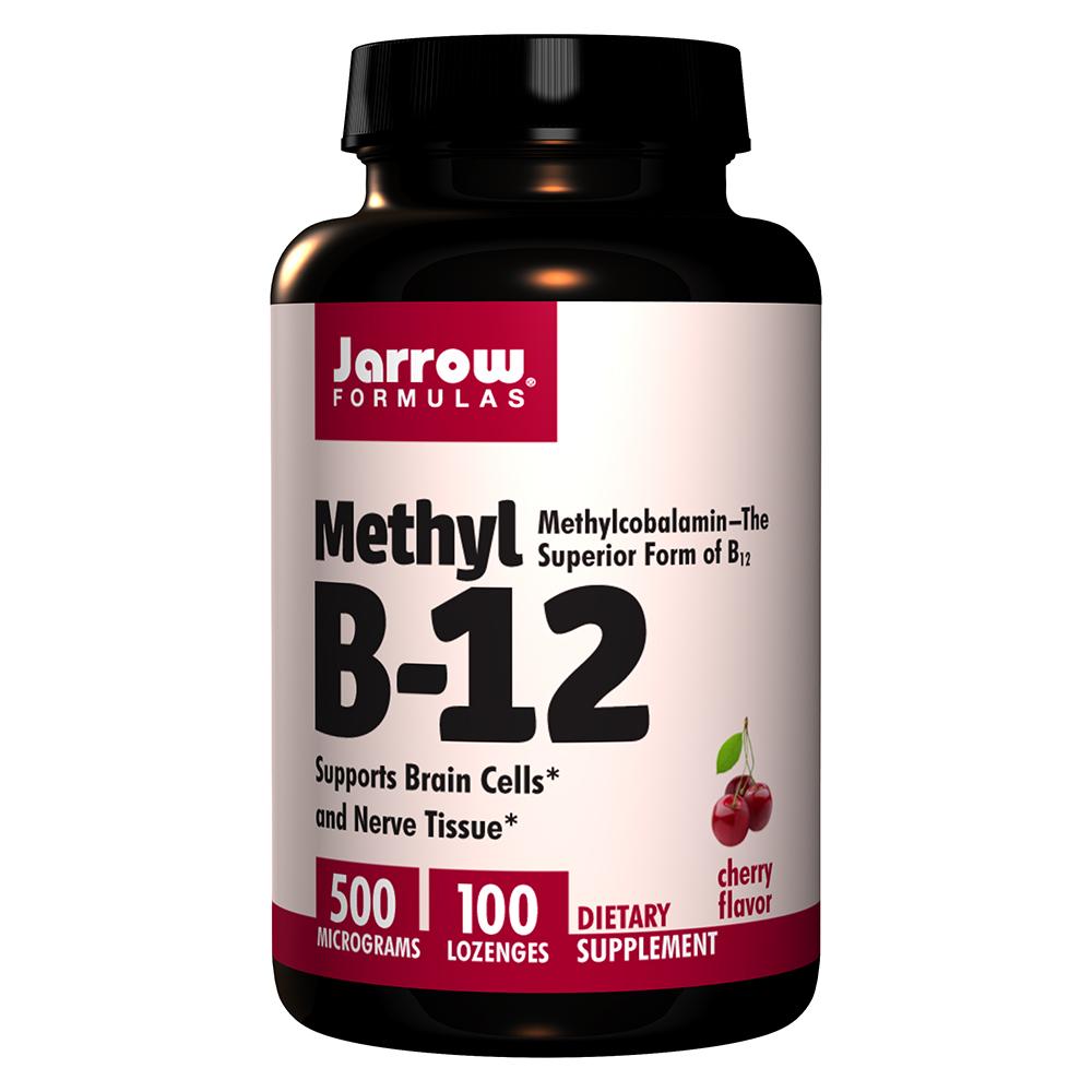 Jarrow Formulas 메틸 B12 500 mcg 체리 로젠지 100개입