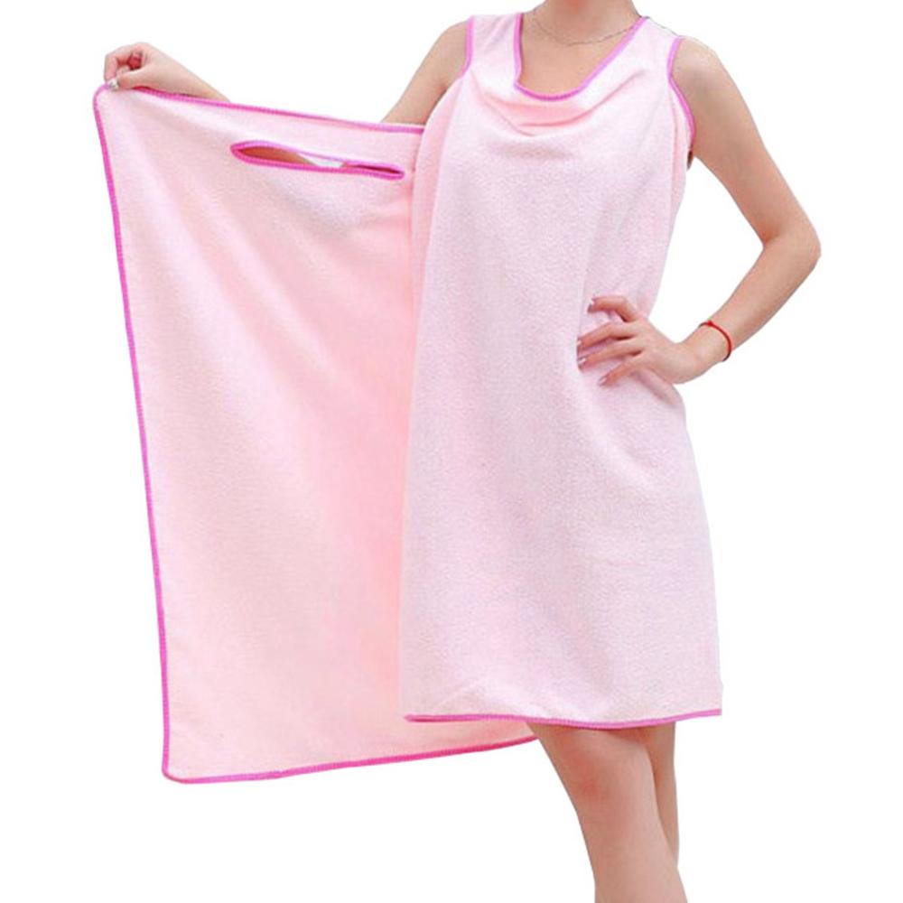 아리코 여성용 극세사 간편 목욕가운, 핑크, 1개