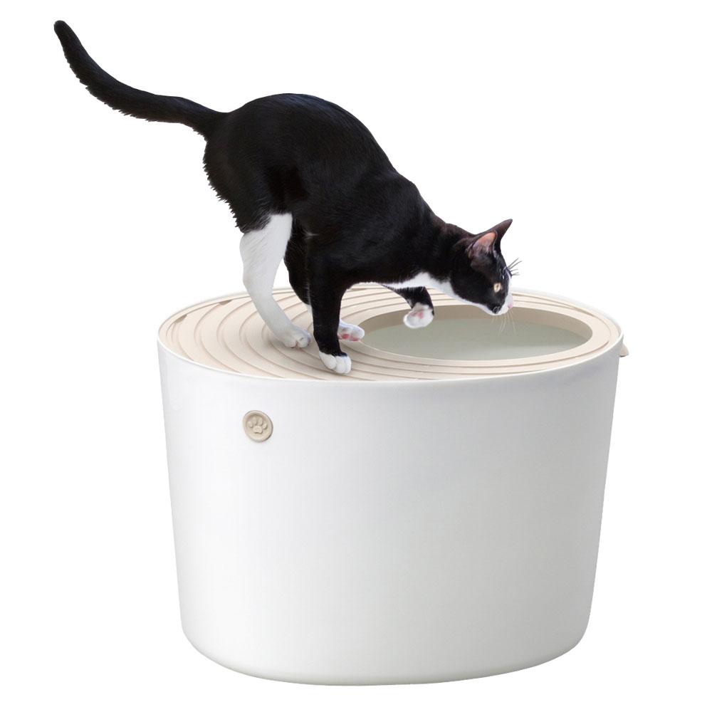 아이리스코리아 고양이 화장실 PUNT-530, 화이트