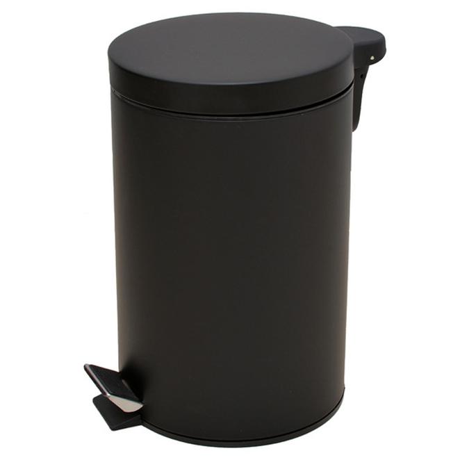 디비플러스 종량제규격 무소음 페달 휴지통, 블랙, 1개