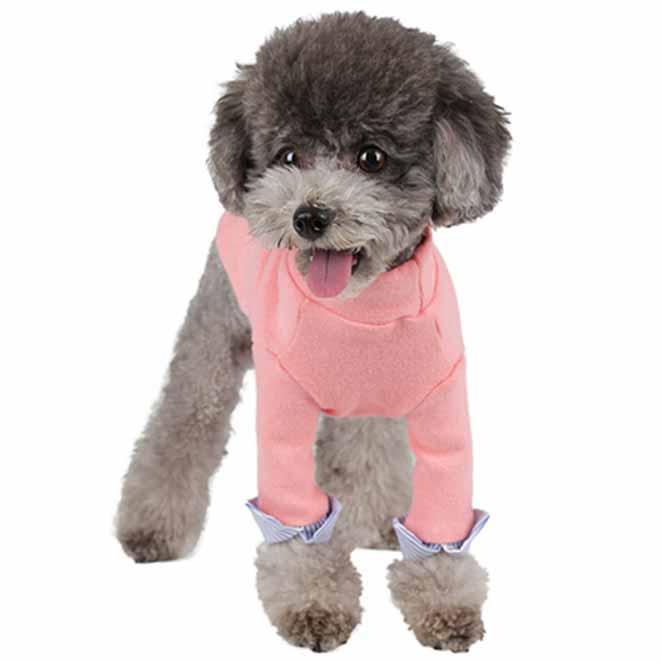 윙키뉴욕 강아지옷 커프스 T, 핑크