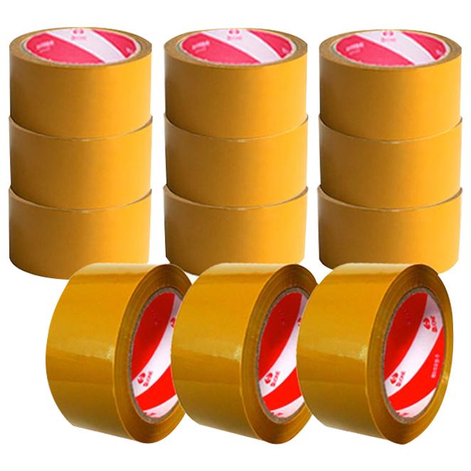 에이치유원 박스테이프 황갈색 중포장 80m, 12개입