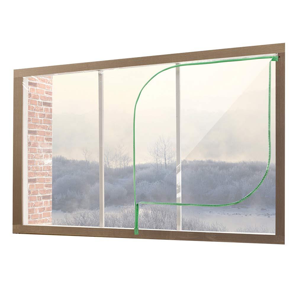 알뜨리 EVA 방풍비닐 창문용 투명 민트지퍼 + 양면테이프