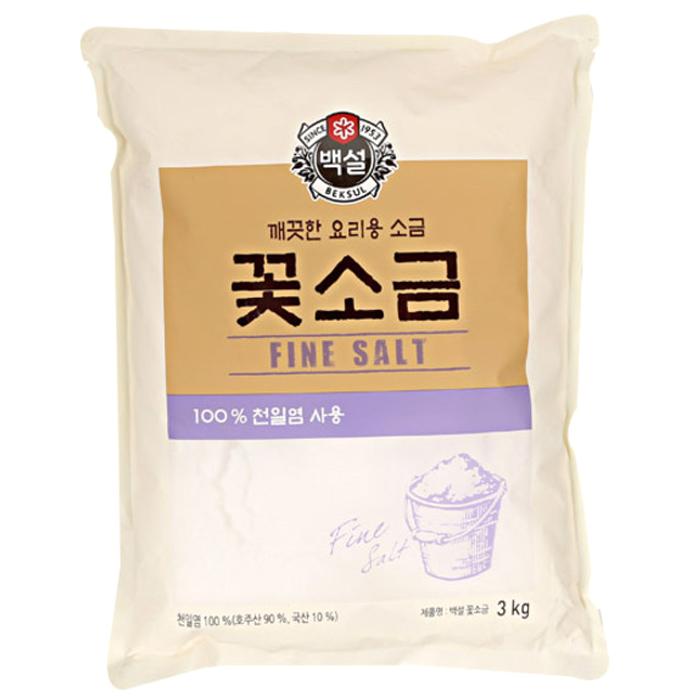 CJ제일제당 백설 꽃소금, 3kg, 1개