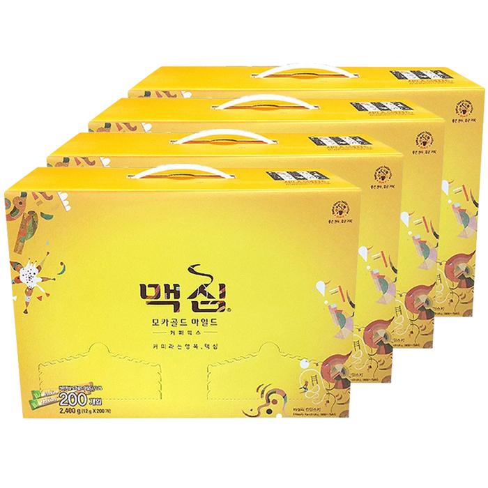 맥심 모카골드 마일드 커피믹스 선물세트, 12g x 200개입, 4세트
