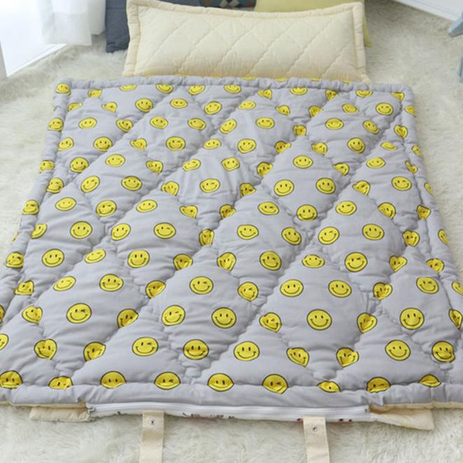 보떼하우스 어린이집 낮잠이불세트 일체형, 스마일그레이