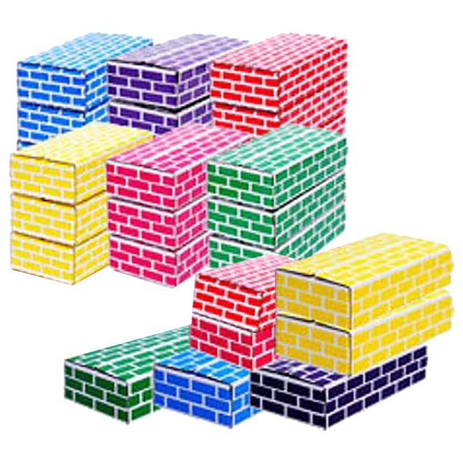 아하토이 종이벽돌블럭 중형, 혼합색상, 25개