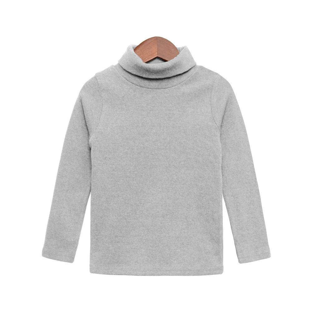 유라비 아동용 애슐리 도톰피치 폴라 긴팔 티셔츠